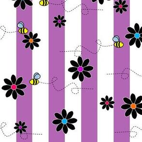 Buzz Bee Stripes Purple