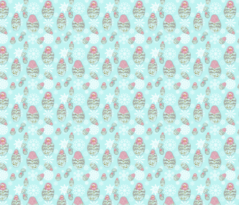 Babushka Snow fabric by karenharveycox on Spoonflower - custom fabric