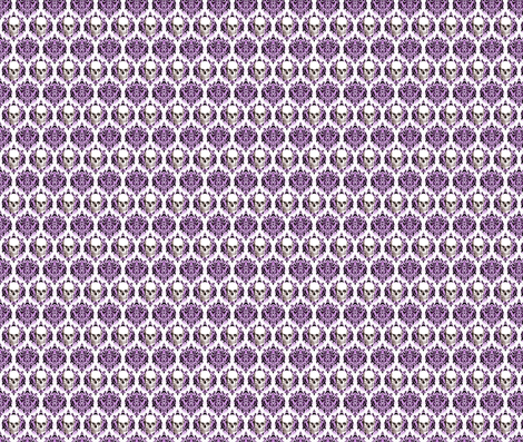 Skull Damask fabric by cindersonfiber on Spoonflower - custom fabric
