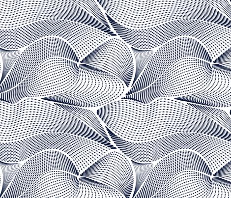 Birds In Flight Navy fabric by samossie on Spoonflower - custom fabric