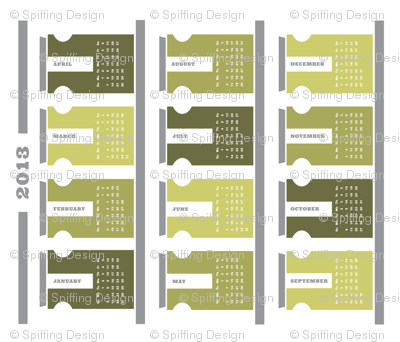 2013 Tea Towel Calendar - Spice Rack