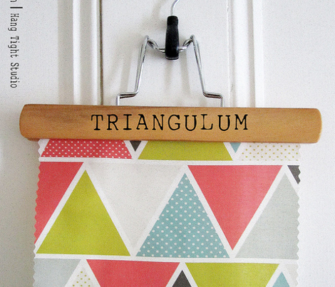 Triangulum - Modern Geometric Red Yellow Blue