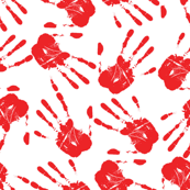 hands all over white red