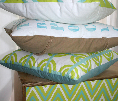 lime+seafoam chevron
