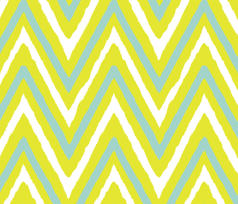 lime+seafoam chevron fabric by fable_design on Spoonflower - custom fabric