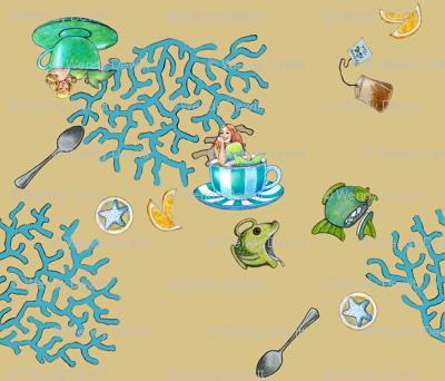 Mermaid Tea - tan