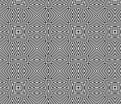 Op Art Octagonal   fabric by wren_leyland on Spoonflower - custom fabric