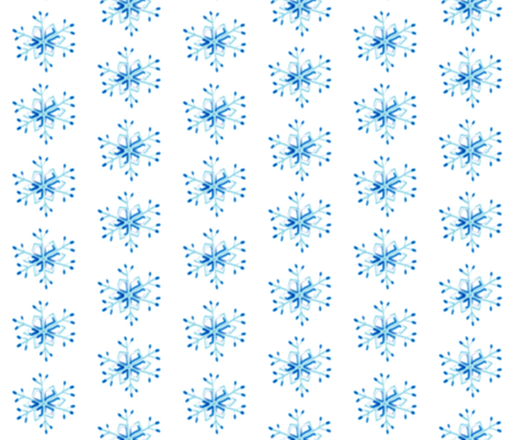 Snowflakes fabric by inkwolf on Spoonflower - custom fabric