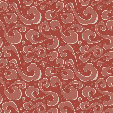 Cloudy Night - Brick fabric by fig+fence on Spoonflower - custom fabric