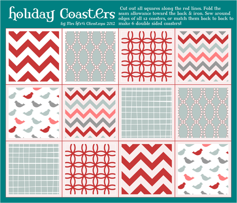 A Holly Jolly Christmas fabric by mrshervi on Spoonflower - custom fabric