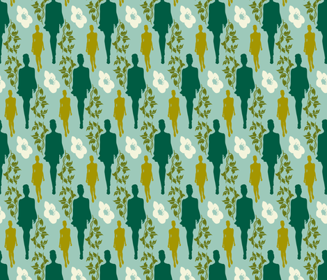 she's growing on me fabric by brandbird on Spoonflower - custom fabric