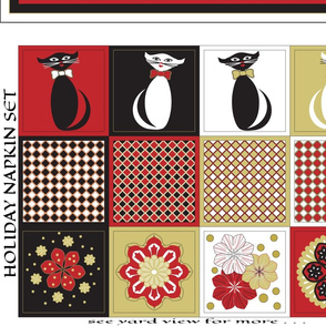 Christmas Cat Napkins & Table Runner