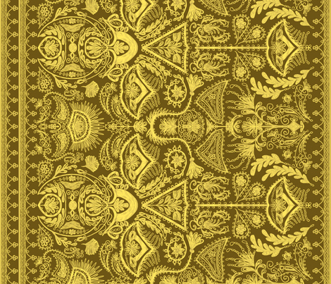 1900s Gold Embroidery fabric by ninniku on Spoonflower - custom fabric