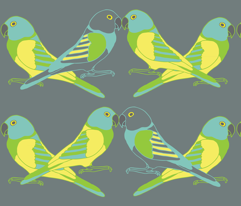 Botanic & Birds - Flock fabric by owlandchickadee on Spoonflower - custom fabric