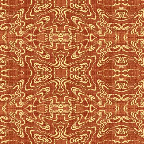 Ripple - terra cotta fabric by materialsgirl on Spoonflower - custom fabric