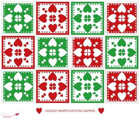 holiday_hearts fabric by therubyredrocket on Spoonflower - custom fabric