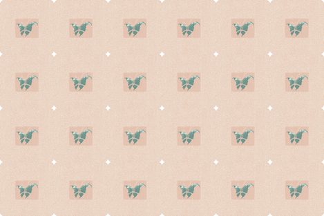 Butterfly woodblock fabric by materialsgirl on Spoonflower - custom fabric