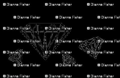 Diamonds are forever - black on white