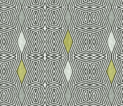 Op Art Ikat - Avocado fabric by wren_leyland on Spoonflower - custom fabric
