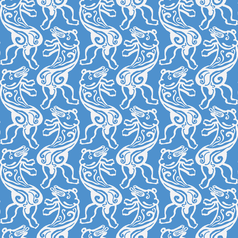 Dancing Polar Bear fabric by nefernika on Spoonflower - custom fabric