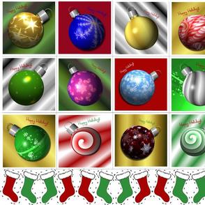Christmas Ball Cocktail Napkins and Ornaments