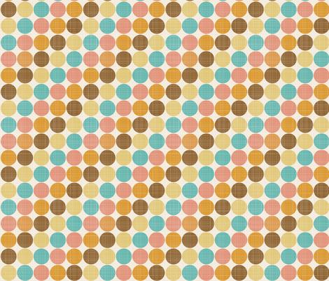 Harvest Dots fabric by janekenstein on Spoonflower - custom fabric