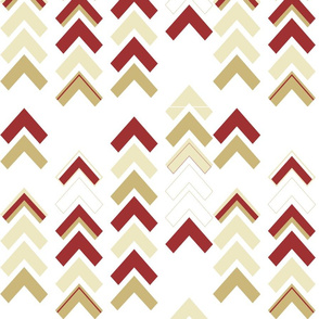 Xmas Chevron Stripe