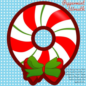 Peppermint Wreath Medium Decal
