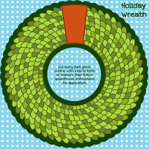 Scaled Holiday Wreath Medium Decal