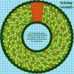Scaled Holiday Wreath Medium Decal