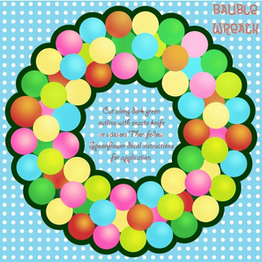 Bauble Wreath Medium Decal
