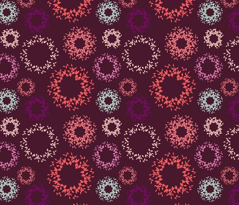Bursts-Plum fabric by kelly_ventura on Spoonflower - custom fabric
