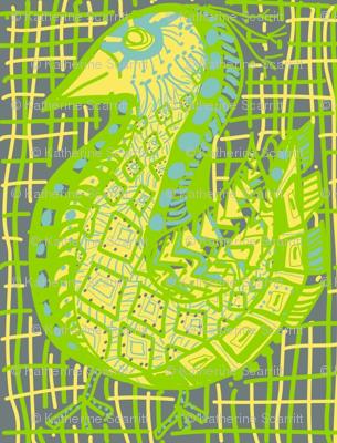 Pattern Bird, woven background