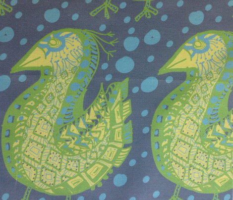 Pattern Bird, blue dots