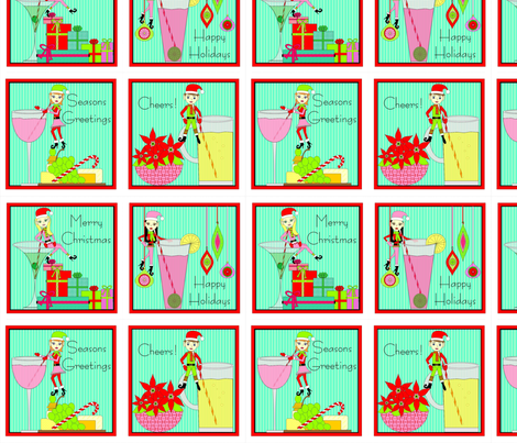 Holiday Cocktail Napkin fabric by susanm45 on Spoonflower - custom fabric