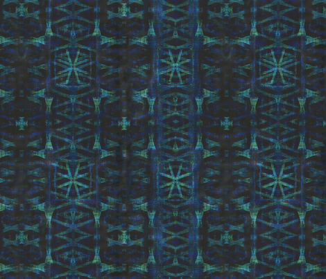 Northern Blue Ikat  fabric by wren_leyland on Spoonflower - custom fabric