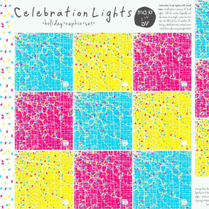 Celebration Lights · holiday napkin set (pls ZOOM)