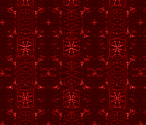 Northern Red Star fabric by wren_leyland on Spoonflower - custom fabric