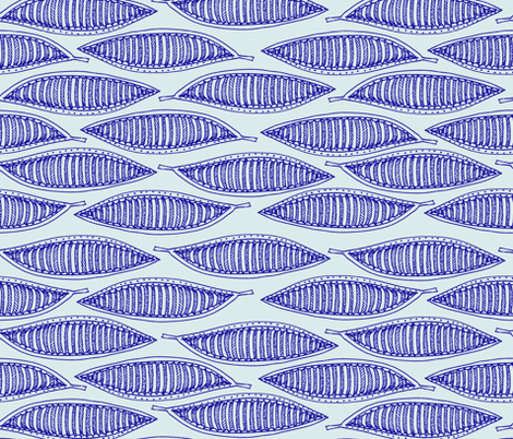 blue_leaves fabric by colorfulartgirl on Spoonflower - custom fabric