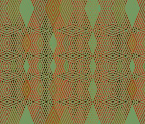 op-art-green-red fabric by wren_leyland on Spoonflower - custom fabric