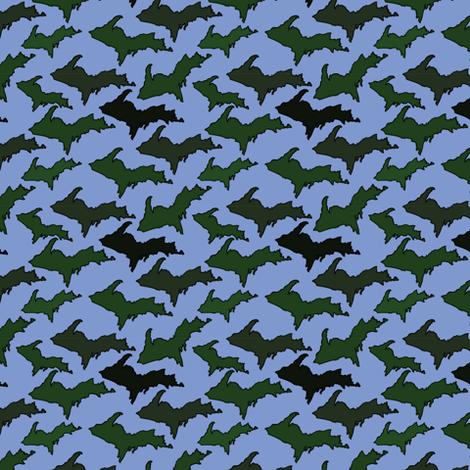 Blue U.P. Camo fabric by hmooreart on Spoonflower - custom fabric