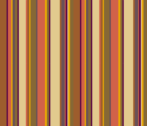 Fourth Doctor Scarf Stripes fabric by mongiesama on Spoonflower - custom fabric