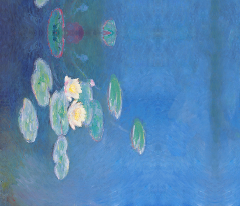Monet: Nymphéas, effet du soir Painting fabric by ninniku on Spoonflower - custom fabric