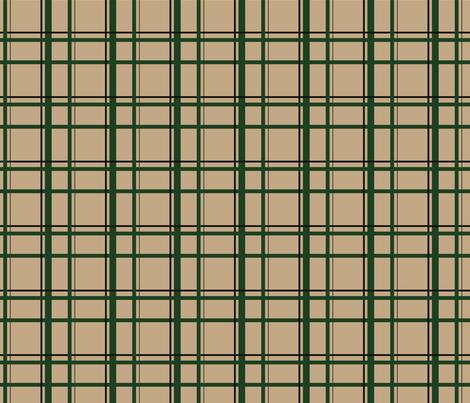 Tan U.P. Plaid fabric by hmooreart on Spoonflower - custom fabric