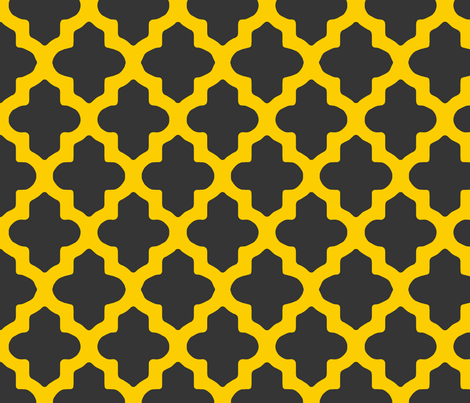Classic Moroccan in Charcoal and Gold fabric by pearl&phire on Spoonflower - custom fabric