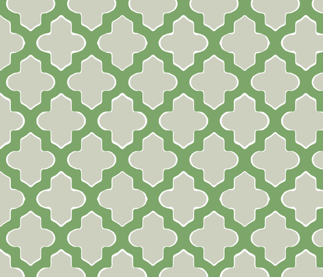 Moroccan in Green and Gray fabric by pearl&phire on Spoonflower - custom fabric
