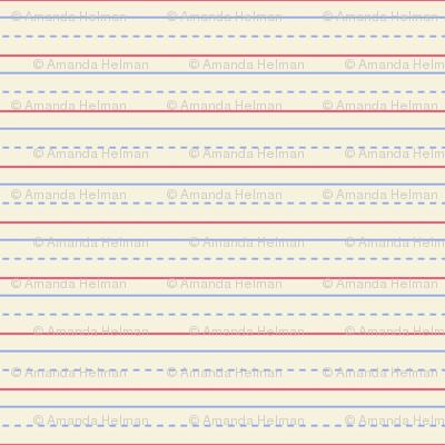 Handwriting Practice Paper Fabric Mongiesama Spoonflower