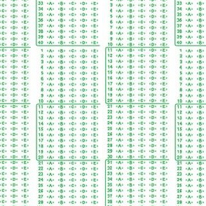 Scantron rectangles