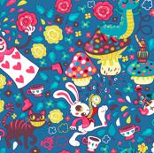 Alice in Wonderland - blue