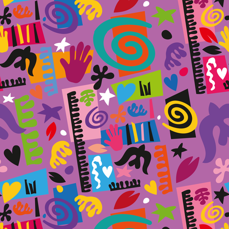 Inspired by Matisse fabric by cassiopee on Spoonflower - custom fabric
